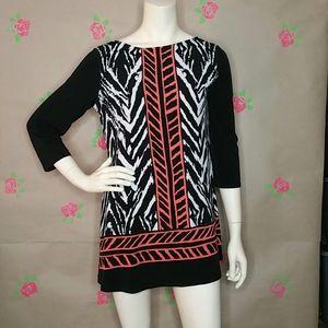 Eva Varro Geometric Mini Dress Black & White M